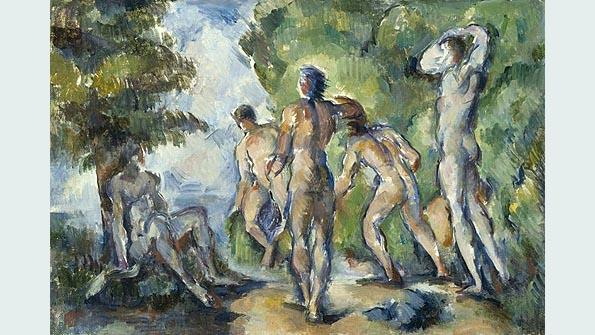 """Bathers"" (ca. 1892), Paul Cézanne"