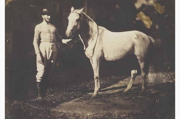 """""""Horse and Groom"""" (c.1855), by Jean-Baptiste Frénet ALL IMAGES COURTESY OF THE WILSON CENTRE FOR PHOTOGRAPHY"""