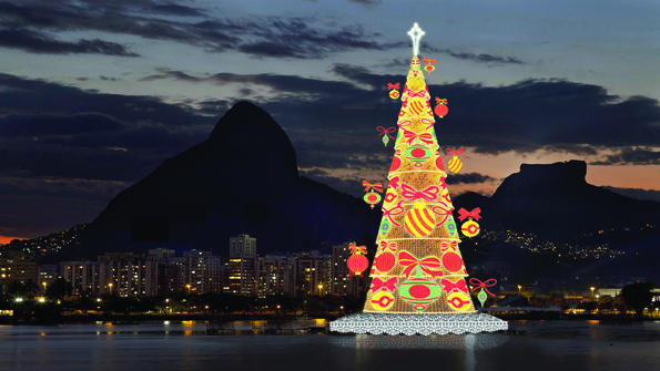 The Bradesco Seguros Christmas Tree, Rio De Janeiro, Brazil, 2012