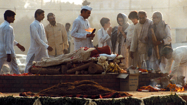 Indira's funeral