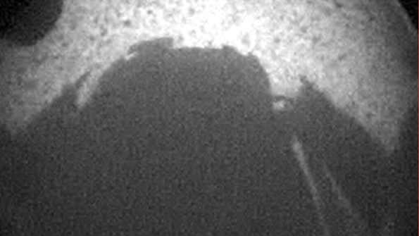 One of the first images from Curiosity