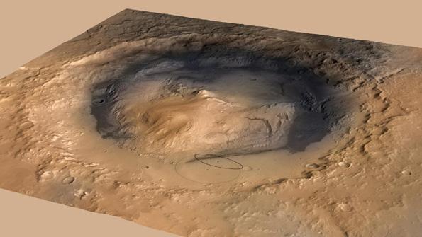 Landing target for Curiosity