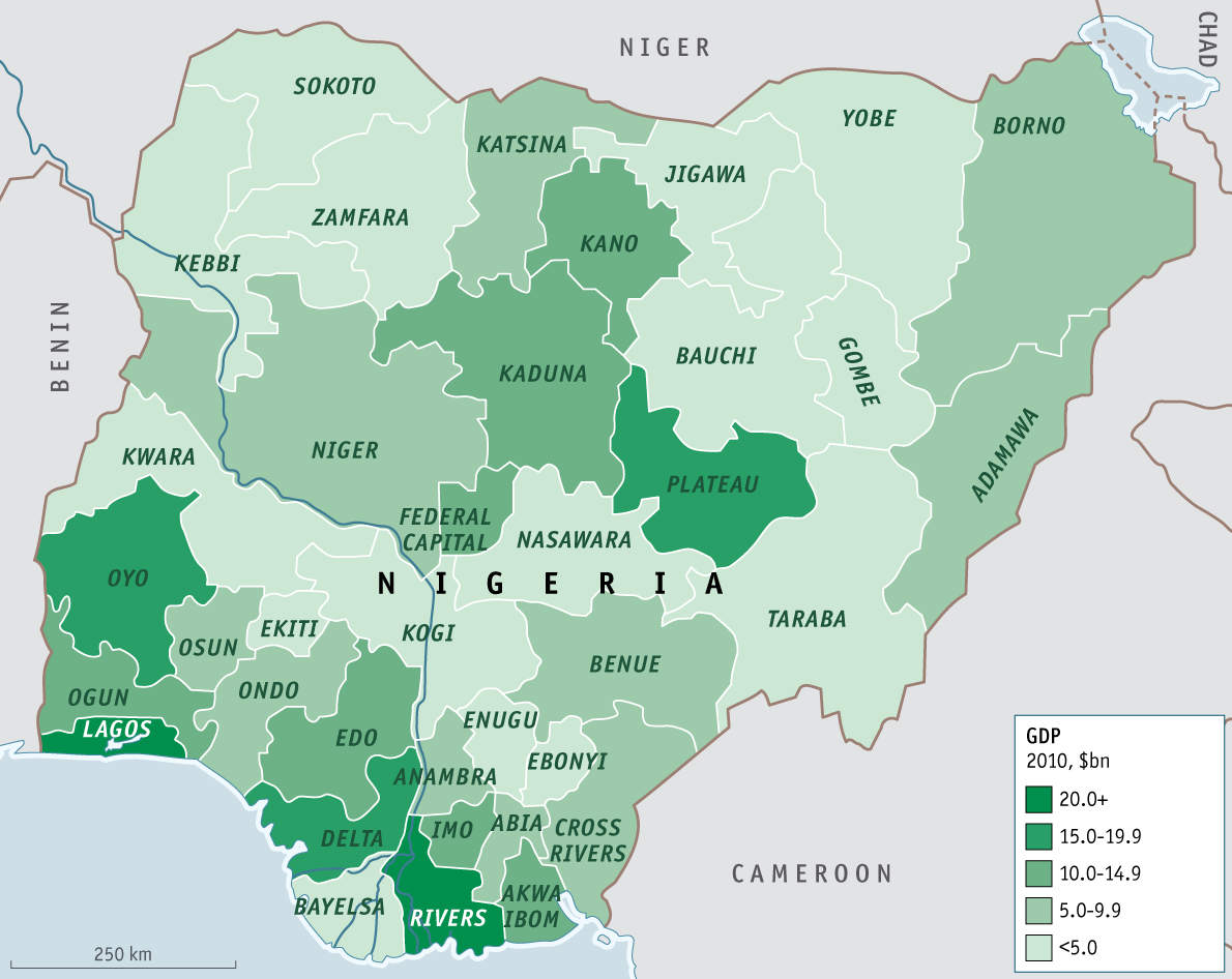 Map Of Major Nigerian Ethnic Groups Map Of Nigeria Showing The - Map of nigeria