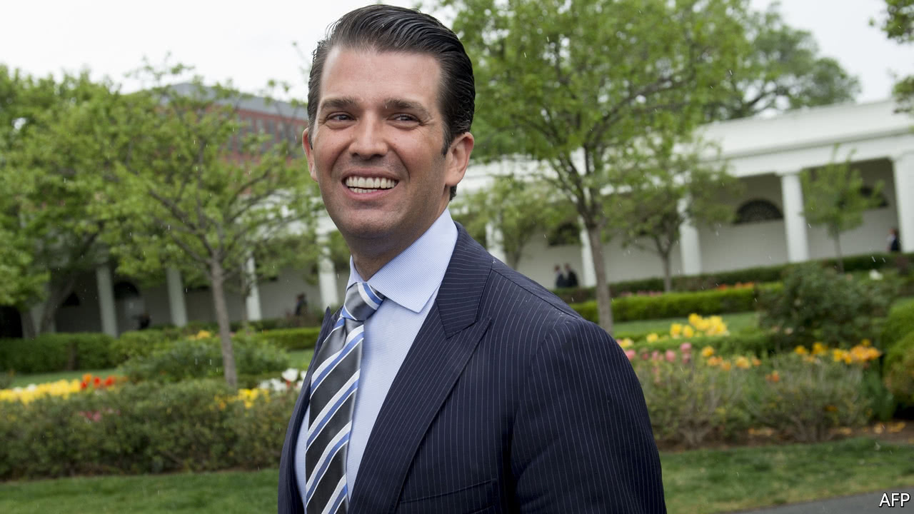 """THE official version is as follows. In June 2016, the president's eldest son, Donald Trump junior was asked by an acquaintance, someone whom he knew from the Miss Universe pageant, to have a meeting with someone who, he was told, """"might have information helpful to his father's campaign."""" He agreed, despite not knowing the name of the person he was to meet. M.."""