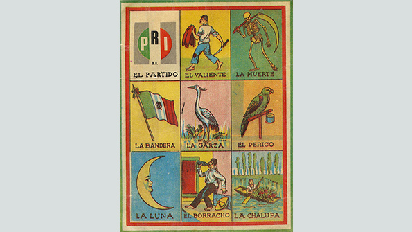 "A card from the classic ""Lotería"" game"