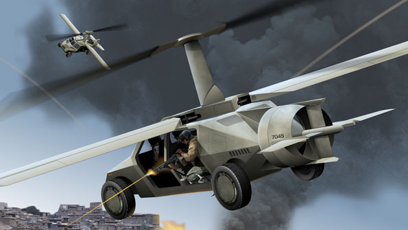 A flying car intended for military use