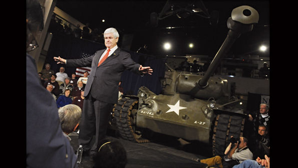 Mr Gingrich's big gun