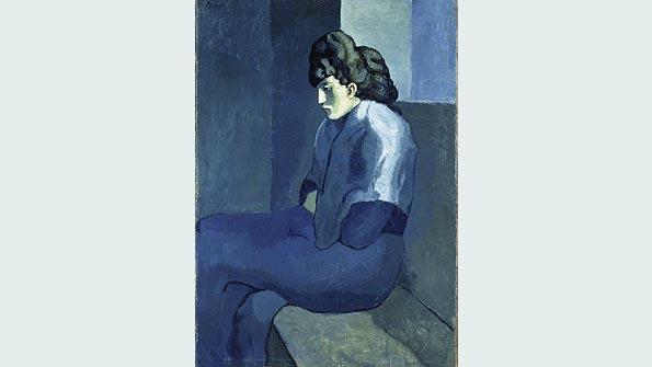 """Melancholy Woman"" (1902), Pablo Picasso"
