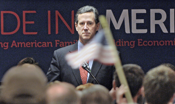 Rick Santorum standing his ground in Ohio