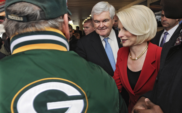 Gingrich in Packers country