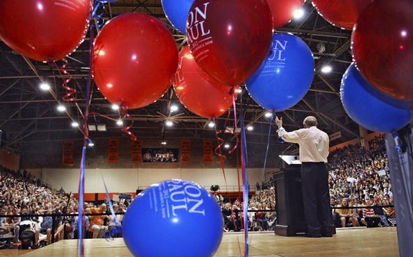 Big crowds but few delegates