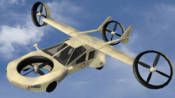Tyrannos flying car