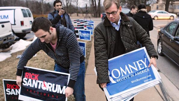 Santorum versus Romney