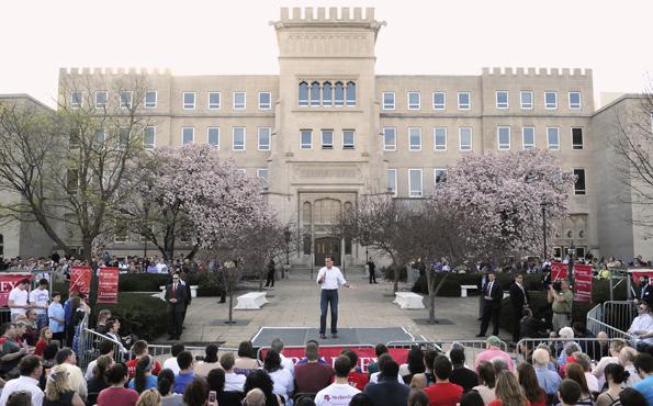 Romney at Bradley University