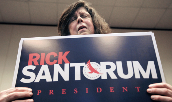 Praying for Santorum
