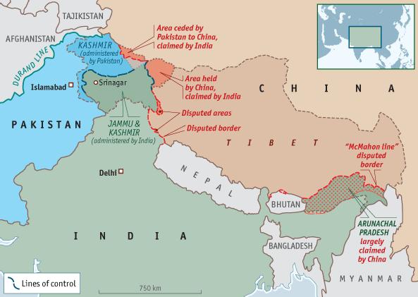 India China Border Dispute Map ~ GOOGLESAGY on