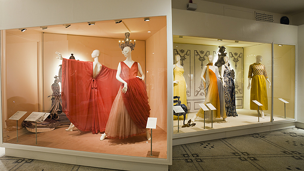 Dresses in the main part of the exhibition are from 1950 to the present day