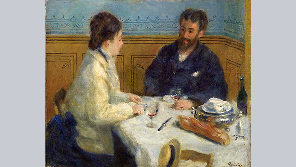 Luncheon, (Le Déjeuner), Pierre-Auguste Renoir (1875)