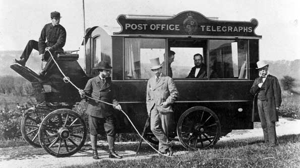 A mobile telegraph office in 1872