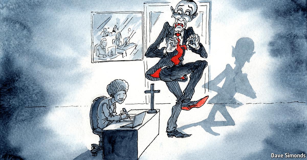 Cross the boss - The Economist