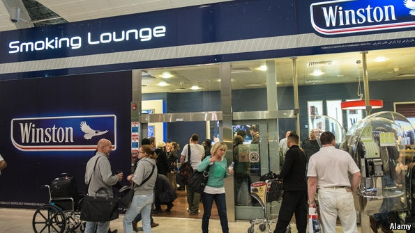 Smoking Rooms in Airports Are Being Stubbed Out