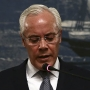 Miguel Macedo, Portugal's interior minister, announcing his resignation