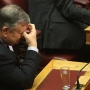 Greek foreign minister Evangelos Venizelos at first-round presidential vote
