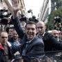 Alexis Tsipras celebrates his victory