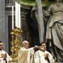 Pope Francis celebrating an Armenian-rite mass on Sunday