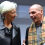 The IMF's Christine Lagarde and Greece's Yanis Varoufakis