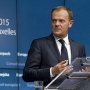Donald Tusk announcing Euroupean Council refugee plan