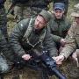 American paratroopers training Ukrainian soldiers