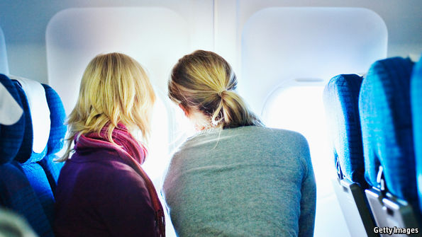 A plane's aisle seat is for cynics