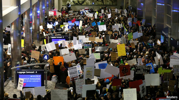 Chaos at airports as America introduces a travel ban