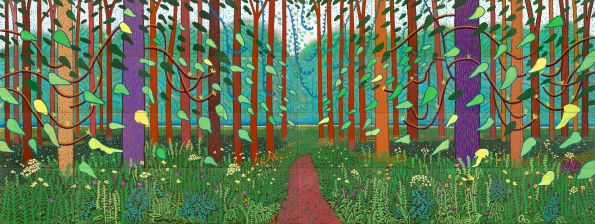 The Arrival of Spring in Woldgate, East Yorkshire in 2011, David Hockney