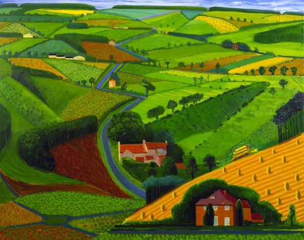 The Road Across the Wolds, 1997, David Hockney