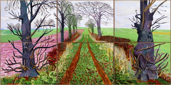 A Closer Winter Tunnel, February-March 2006, David Hockney