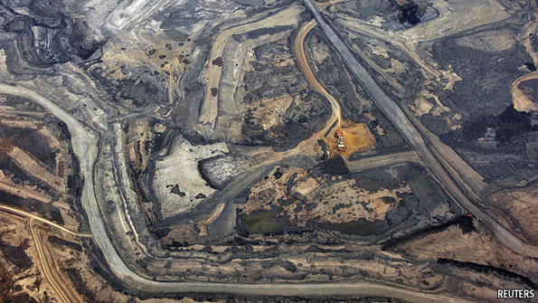 The Syncrude tar sands mine north of Fort McMurray, Alberta