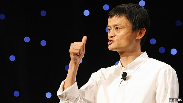 Alibaba's Jack Ma makes a point