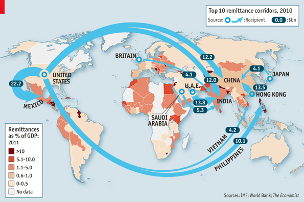New Rivers Of Gold The Economist - Map of us gold migration