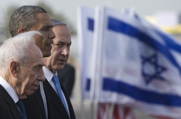 Barack Obama during his visit to Israel