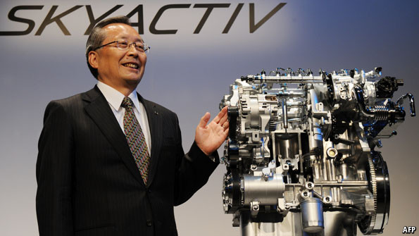 Mazda's new, light-weight diesel engine