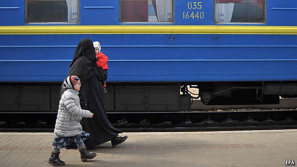Крымские беженцы в Львове