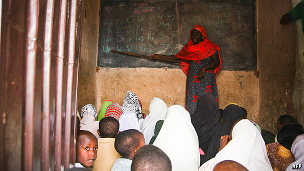 Teaching children in Nigeria