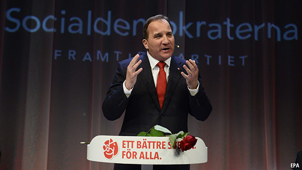 Stefan Löfven, leader of Sweden's Social Democrats