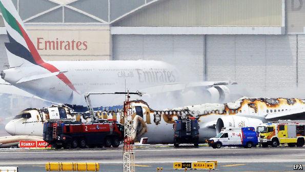 Hero firefighter dies saving 300 people in Emirates plane crash