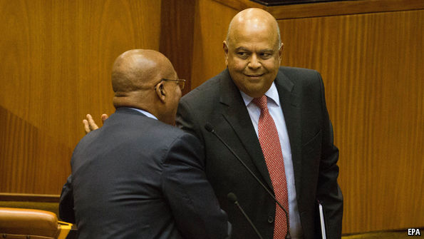 South Africa's president sacks the finance minister in a cabinet reshuffle