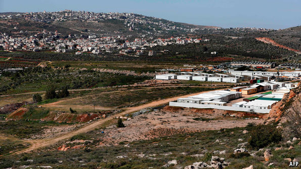 A new Israeli settlement on the West Bank