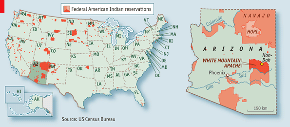 Gambling On Nationbuilding The Economist - Us indian reservations map
