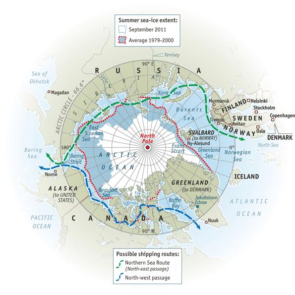 The melting north  The Economist